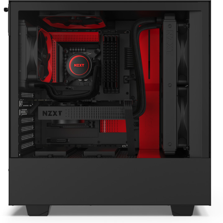 NZXT H510, window, black-red