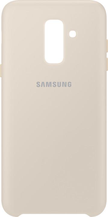Samsung A6+ dvouvrstvý ochranný zadní kryt, zlatá