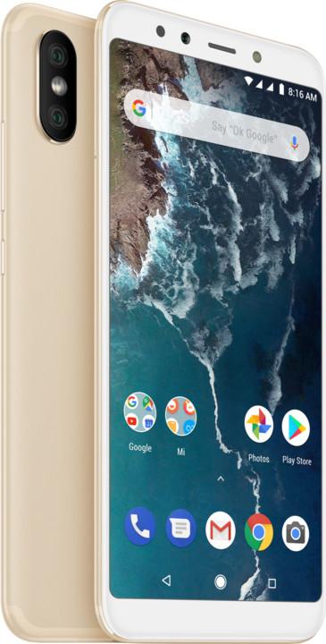Xiaomi Mi A2 - 128GB, zlatá