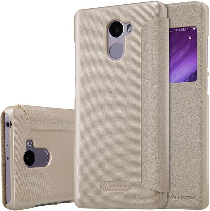 Nillkin Sparkle Leather Case pro Xiaomi Redmi 4, zlatá