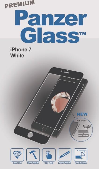 PanzerGlass ochranné sklo PREMIUM na displej pro Apple iPhone 7, bílé