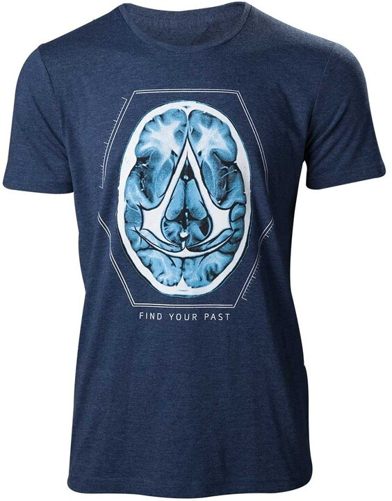 Tričko Assassin's Creed - Find Your Past Brain Crest (XL)