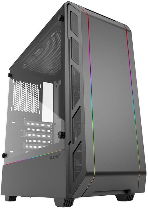 PHANTEKS Eclipse P350X, Tempered glass, RGB, černo-bílá