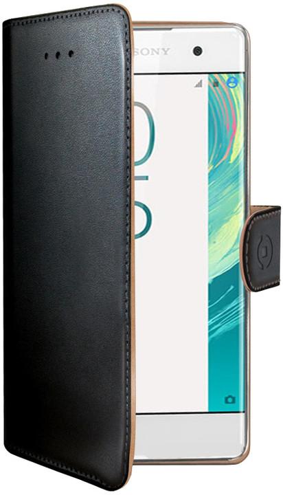 CELLY Wally pouzdro typu kniha pro Sony Xperia X, PU kůže, černé