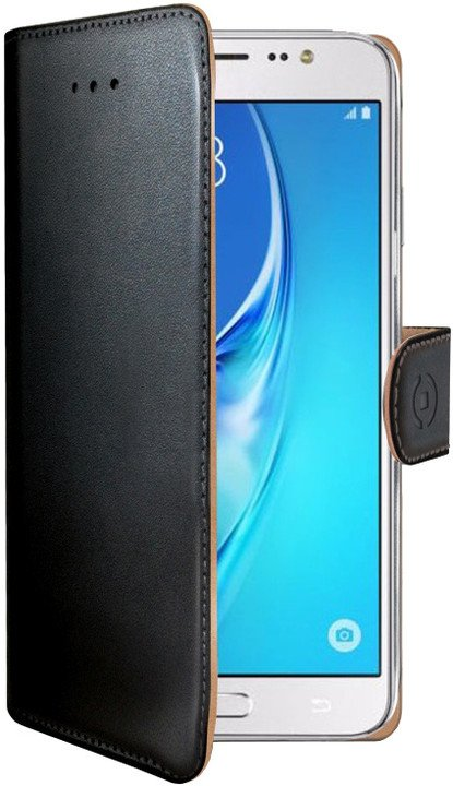 CELLY Wally Pouzdro typu kniha pro Samsung Galaxy J5 (2016), PU kůže, černé
