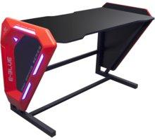 E-Blue EGT002, modrá LED, černá/červená