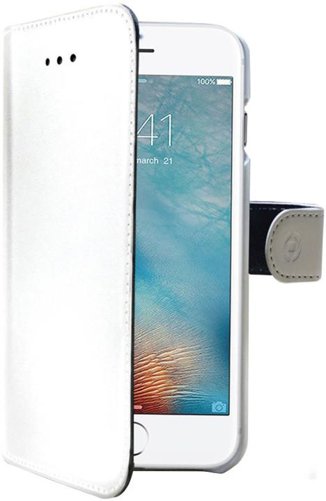 CELLY Wally pouzdro typu kniha pro Apple iPhone 7 Plus, PU kůže, bílá