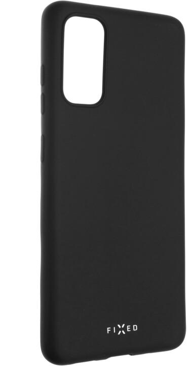 FIXED Story zadní pogumovaný kryt pro Samsung Galaxy S20, černá