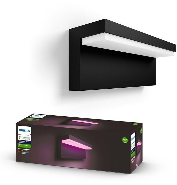 Philips Venkovní nástěnné svítidlo HUE Nyro, 13.5W, černá