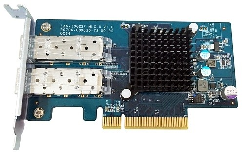 QNAP LAN-10G2SF-MLX - síťová rozšiřující karta sítě 10 GbE se dvěma porty SFP+