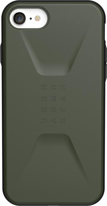 UAG ochranný kryt Civilian pro iPhone 7/8/SE 2020, olivová
