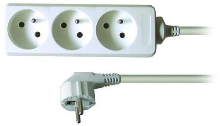 Prodlužovací kabel 230V 1,5m - 3x zásuvka, bílý