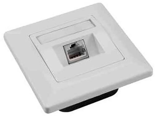 Solarix zásuvka CAT6 UTP 1 x RJ45 pod omítku bílá SX9-1-6-UTP-WH