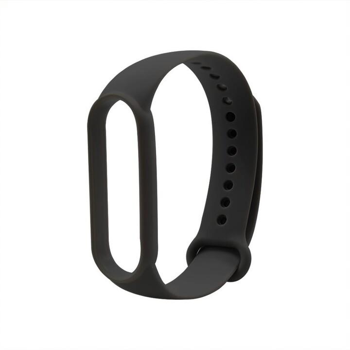 MAX silikonový řemínek MXS52 pro Mi Band 5, černá
