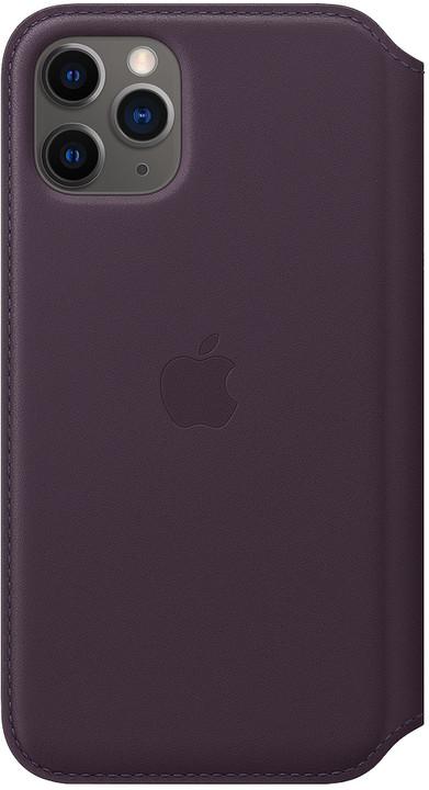 Apple kožené pouzdro Folio na iPhone 11 Pro, lilková