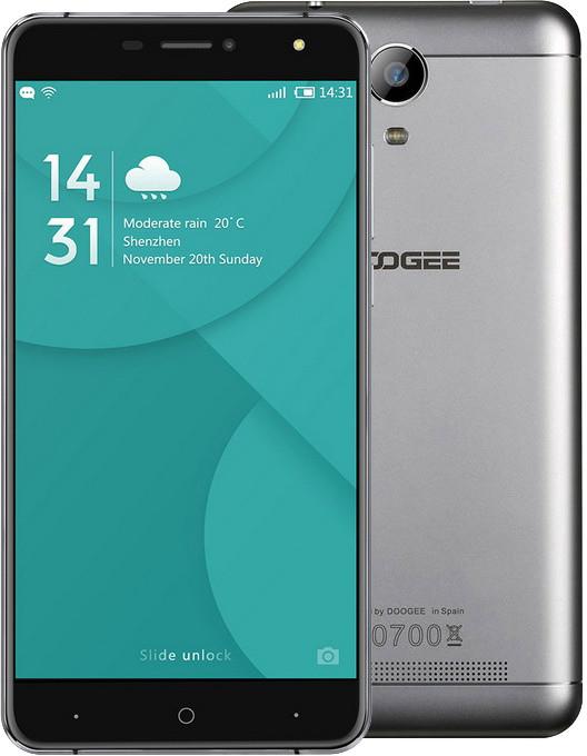 DOOGEE X7 - 16GB, stříbrná