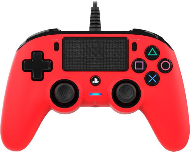 Nacon Wired Compact Controller, červený (PS4)