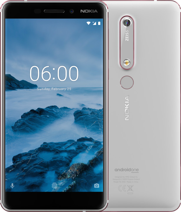 Nokia 6.1 2018, Single Sim, 32GB, bílá
