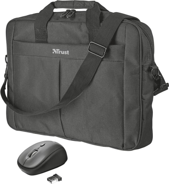 """TRUST Brašna na notebook 16"""" s wireless myší"""