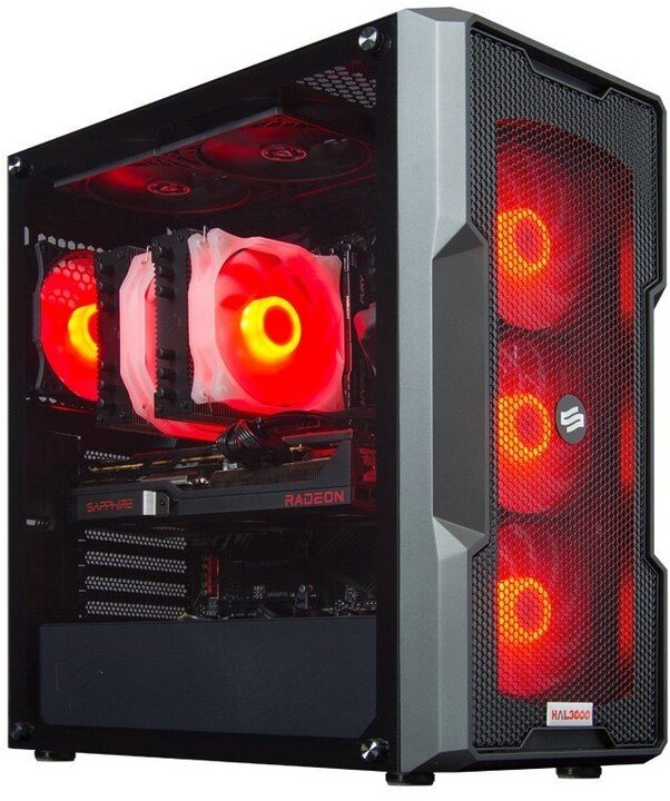HAL3000 Alfa Gamer Ultimate 6700 XT, černá