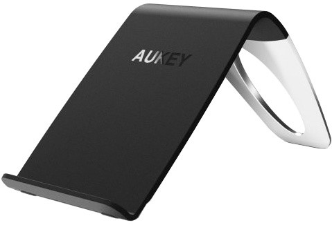 Aukey Three-Coil Qi-Enabled Wireless Charger Black