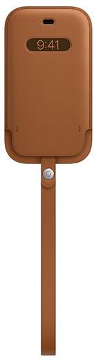 Apple kožený návlek s MagSafe pro iPhone 12 mini, hnědá