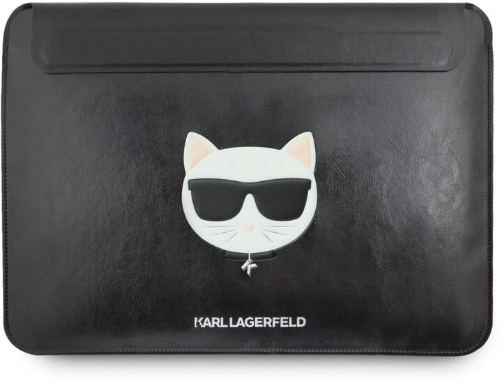 KARL LAGERFELD pouzdro Choupette Sleeve pro MacBook Air/Pro, kožené, černá