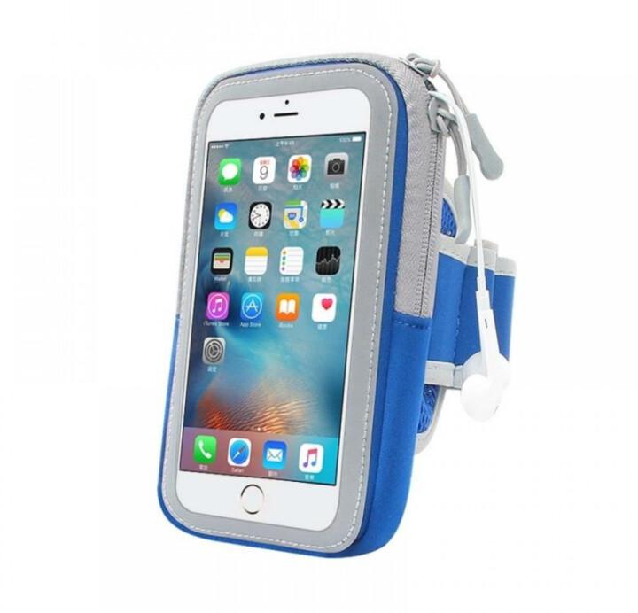 "Forever pouzdro na ruku Zipper pro smartphone 6.0"", modrá"