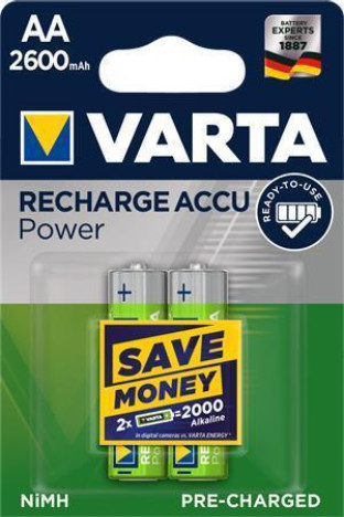 VARTA nabíjecí baterie Power AA 2600 mAh, 2ks