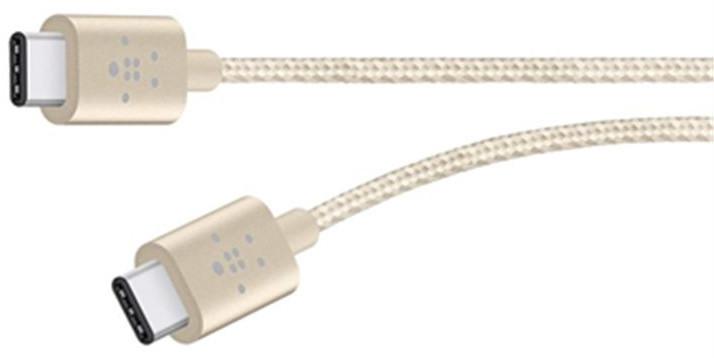 Belkin MIXIT kabel USB-C to USB-C,1.8m, zlatý