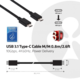 Club3D USB 3.1 TYPE C na USB 3.1 TYPE C, Power delivery, 0.8m