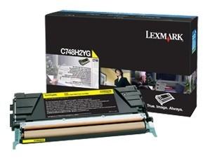 Lexmark C748H2YG, žlutá