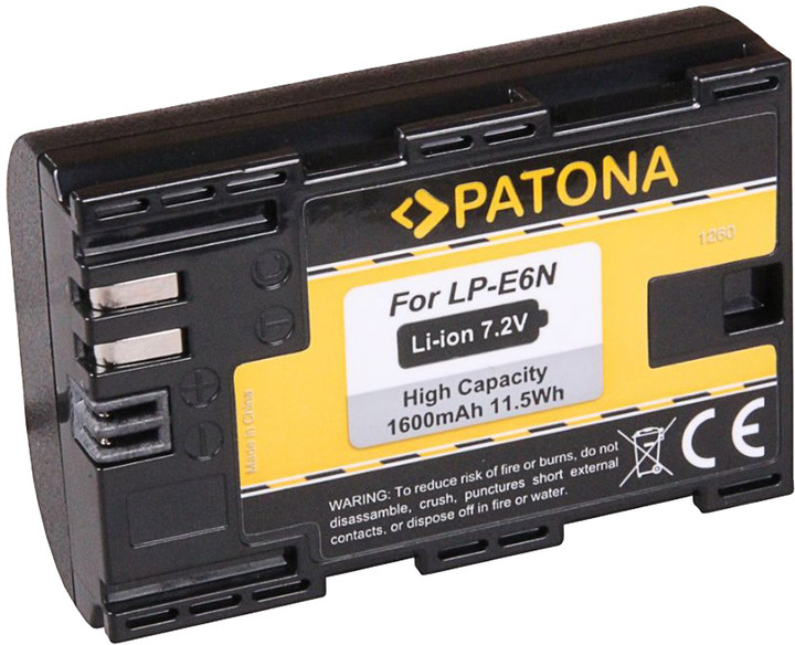 Patona baterie pro foto Canon LP-E6 1600mAh Li-Ion
