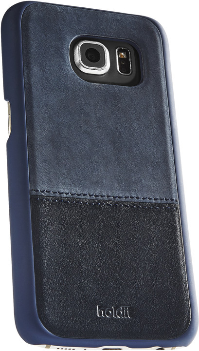 Holdit Case Samsung Galaxy S7 - Blue Leather/Suede