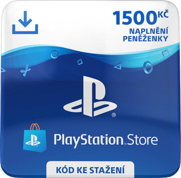 PlayStation Store naplnění peněženky 1500 Kč - elektronicky