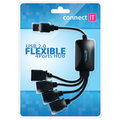 CONNECT IT CI-50 USB 2.0 hub FLEXIBLE se 4 porty
