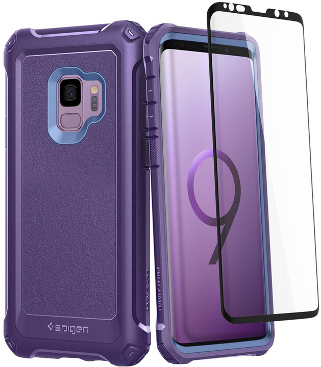 Spigen Pro Guard pro Samsung Galaxy S9, deep purple