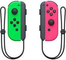 Nintendo Joy-Con (pár), zelený/růžový (SWITCH) - NSP075