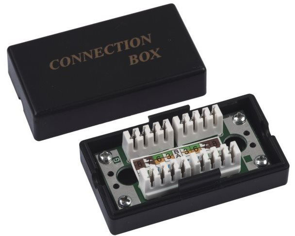 DATACOM spojovací box konektorů Cat5e UTP (2* zářez. pole)