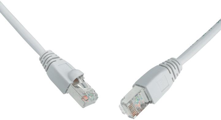 Solarix 10G patch kabel CAT6A SFTP LSOH 15m šedý non-snag-proof