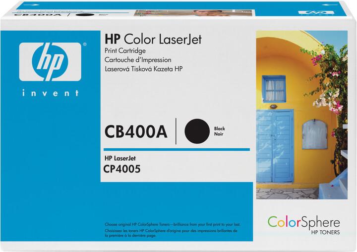 HP CB400A, černý