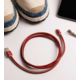PlusUs LifeStar Handcrafted USB Charge & Sync cable (25cm) Lightning - Red /Yellow