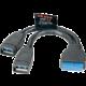 Akasa USB 3.0, interní USB kabel, 15cm