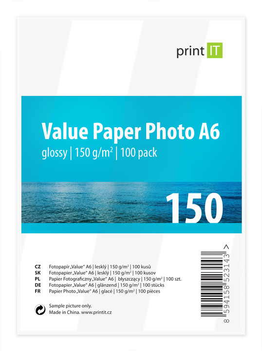 PRINT IT Value Paper Photo A6 150 g/m2 Glossy 100ks
