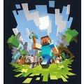 Tričko Minecraft Adventure Premium, modré (US XL / EU XXL)