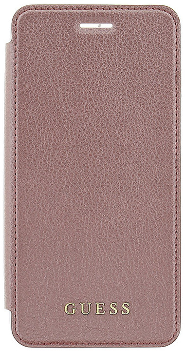 Guess IriDescent Book Pouzdro Rose Gold pro iPhone 7 Plus
