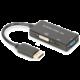 Digitus převodník 3v1 DisplayPort - HDMI, DVI, VGA, M/F/F/F, 20cm, černá