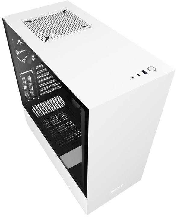 NZXT H510i, okno, bílá