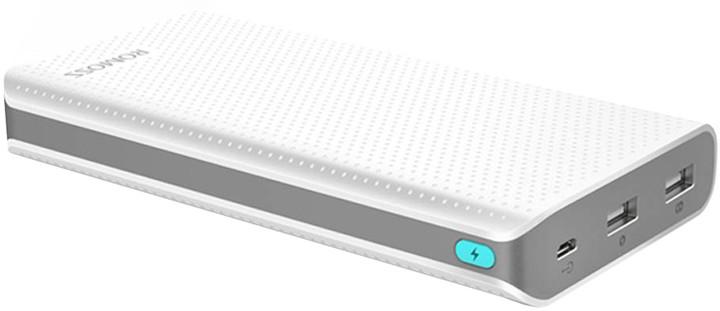 ROMOSS sense 6 LED, 20000mAh, bílá