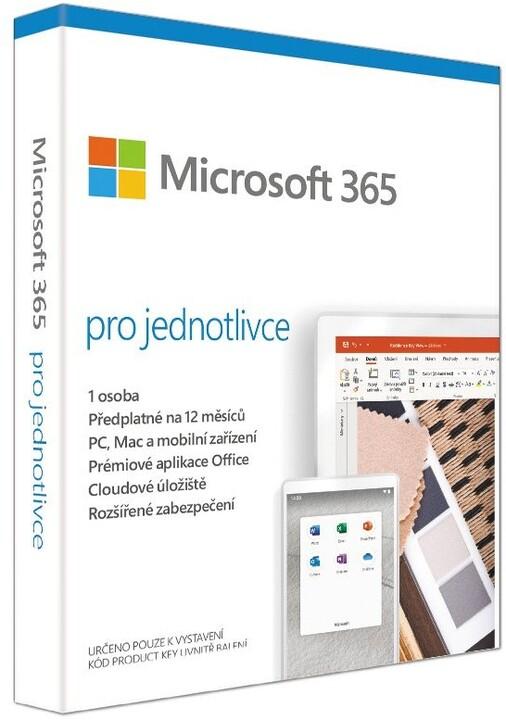 Microsoft 365 pro jednotlivce 1 rok, bez média v hodnotě 1 790 Kč